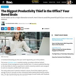 The Biggest Productivity Thief in the Office? Your Bored Brain