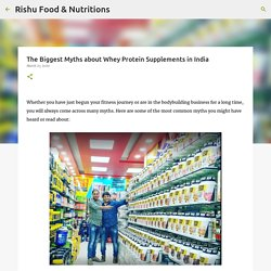The Biggest Myths about Whey Protein Supplements in India