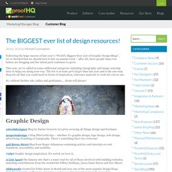 The BIGGEST ever list of design resources!