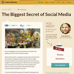 The Biggest Secret of Social Media