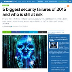 5 biggest security failures of 2015 and who is still at risk
