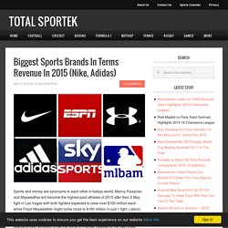 Biggest Sports Brands In Terms Revenue In 2015 (Nike, Adidas)