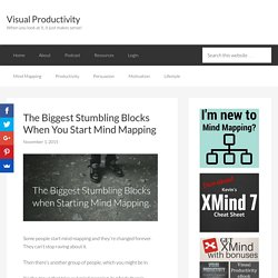 The Biggest Stumbling Blocks When You Start Mind Mapping