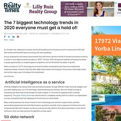 The 7 biggest technology trends in 2020 everyone must get a hold of!