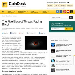 The Five Biggest Threats Facing Bitcoin