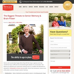 The Biggest Threats to Memory & Brain Power as You Age