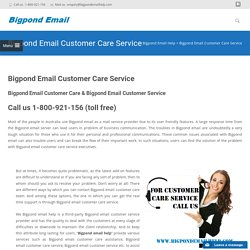 Call Bigpond Email Customer Care Service at 1-800-921-156 Toll Free