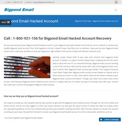Call 1-800-921-156 Toll Free For Bigpond Email Hacked Account
