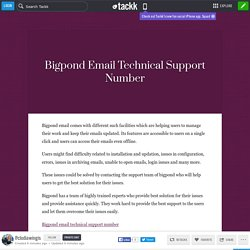 Bigpond Email Technical Support Number