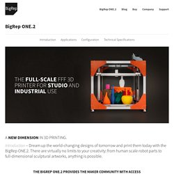 Full Scale 3D Printing » BigRep ONE.2