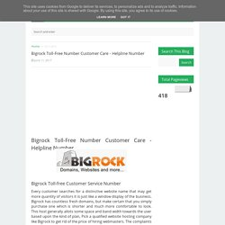 Bigrock Toll-Free Number Customer Care - Helpline Number
