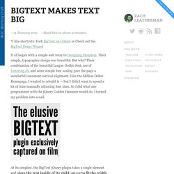 BigText Makes Text Big