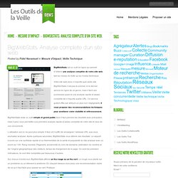 BigWebStats. Analyse complete d'un site web
