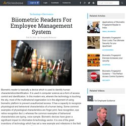 Biiometric Readers For Employee Management System