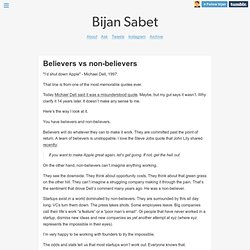 Believers vs non-believers
