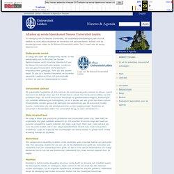 Aftasten op eerste bijeenkomst Nieuwe Universiteit Leiden - Nieuws - Nieuws & Agenda