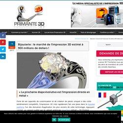 Bijouterie : le marché de l'impression 3D estimé à 900 millions de dollars !