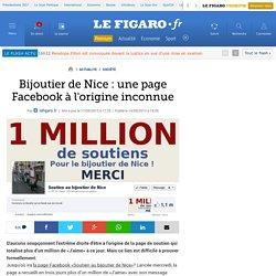Bijoutier de Nice : une page Facebook à l'origine inconnue