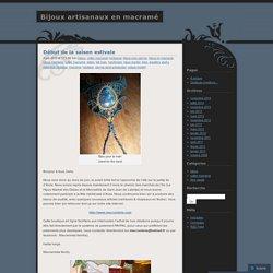 bijoux | Bijoux artisanaux en macramé