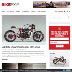 Cafe racers, custom motorcycles and bobbers