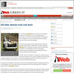 H2 bike demos fuel cell tech