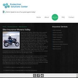 Bike Insurance in Moreno Valley CA