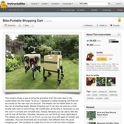 Bike-Portable Shopping Cart