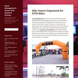 Bike Stunts Organized for KTM Bikes