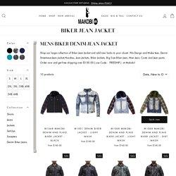 Big & Tall Size Denim Jackets – Makobi Jeans USA