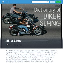Biker Lingo (with images) · AasthaAhuja
