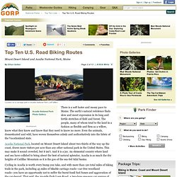 Road Biking Routes in Mount Desert Island and Acadia NP