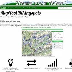 MapTool Bikingspots.ch - Editez vos parcours VTT au format GPX et préparez vos sorties sur fond de cartes SwissTopo