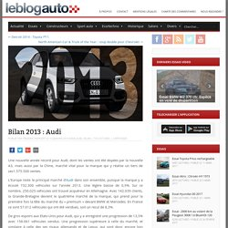 Bilan 2013 : Audi