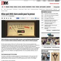 Bilan pub 2013: dure année pour la presse