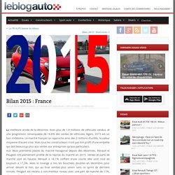 Bilan 2015 : France - le blog auto