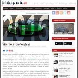 Bilan 2016 : Lamborghini - le blog auto