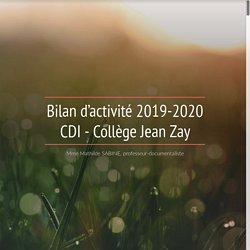 Bilan d'activité 2019-2020 CDI - Collège Jean Zay
