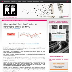Bilan des Bad Buzz 2016 selon le baromètre annuel de MMC