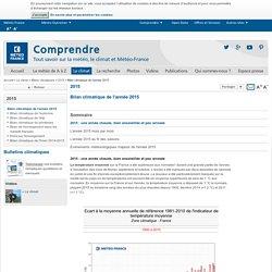 Bilan climatique de l'année 2015 - Météo-France