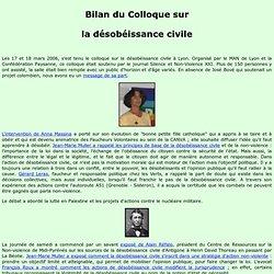 Bilan du Colloque 2006 de Lyon