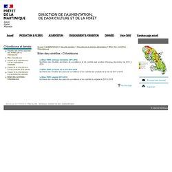 PREFECTURE DE MARTINIQUE 17/09/19 Bilan des contrôles - Chlordécone
