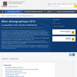 Bilan démographique 2012 - Insee Première - 1429