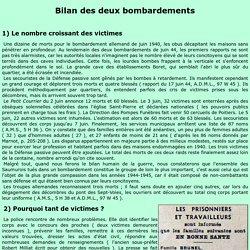 BILAN DES DEUX BOMBARDEMENTS