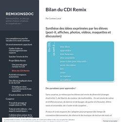 Bilan du CDI Remix