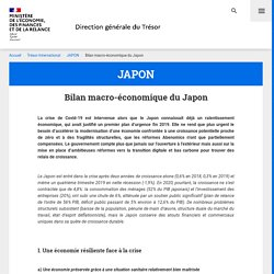 Bilan économique du Japon - Aout 2019 - source : gvt français