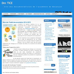 Bilan des TraAM documentation 2014-2015