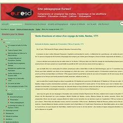 Ressources pédagogiques sur la traite (docs d'archives)
