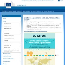 EUROPE - Accords de pêche bilatéraux avec les pays non membres de l'UE