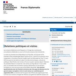 Relations bilatérales - Ministère de l'Europe et des Affaires étrangères