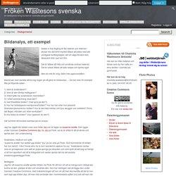Bildanalys, ett exempel – Fröken Wastesons svenska